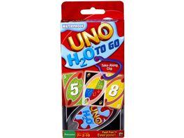 Mattel Games UNO H2O To Go wasserfestes Kartenspiel Reisespiel Familienspiel
