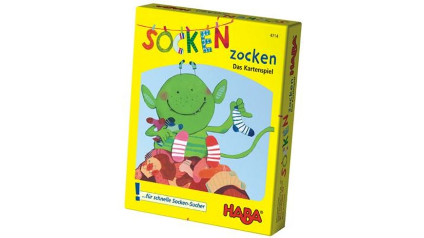 HABA Socken zocken das Kartenspiel