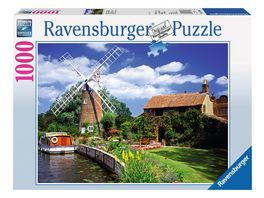 Ravensburger Puzzle Malerische Windmuehle 1000 Teile