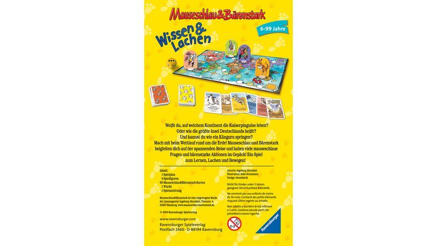 Ravensburger Spiel Mitbringspiel Mauseschlau und Baerenstark Wissen und Lachen