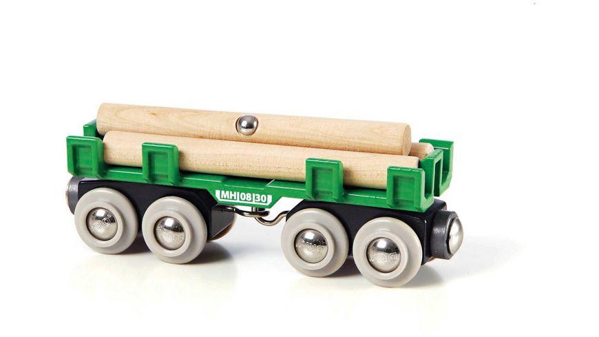 BRIO Bahn Langholzwagen