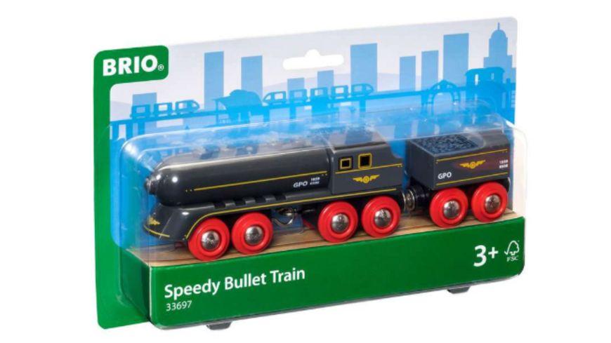 BRIO Bahn - Schwarzer Kugelblitz mit Kohlentender