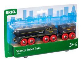 BRIO Bahn Schwarzer Kugelblitz mit Kohlentender