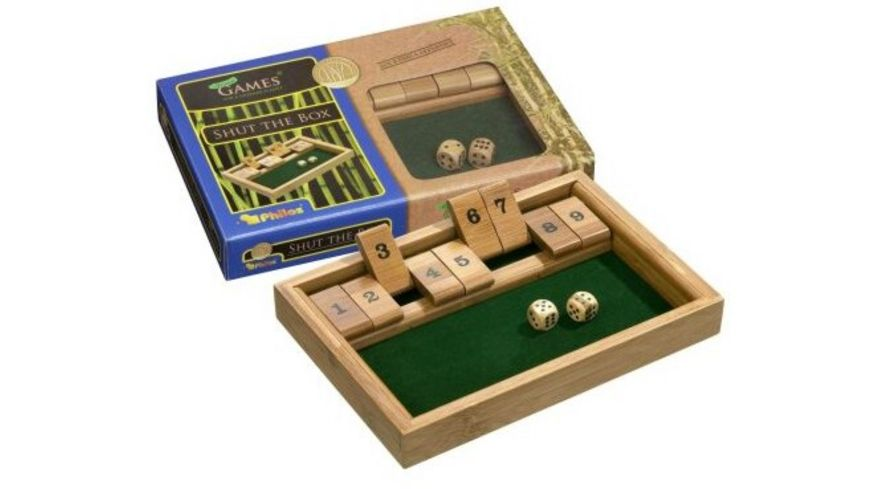 Philos Shut The Box 9er Bambus