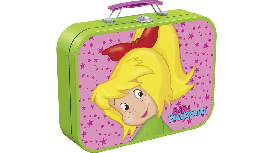 Schmidt Spiele Kinderpuzzle Puzzle Box im Metallkoffer Bibi Blocksberg 2x60 2x100 Teile
