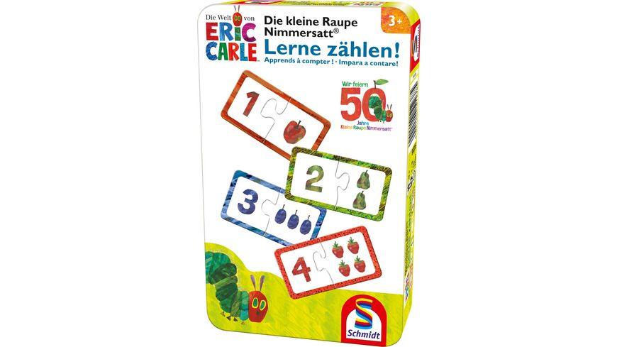 Schmidt Spiele Die kleine Raupe Nimmersatt Lerne zaehlen In Metalldose