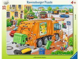 Ravensburger Puzzle Rahmenpuzzle Muellabfuhr 35 Teile