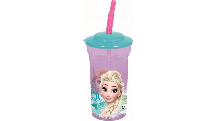 p os Trinkbecher Frozen mit Strohhalm