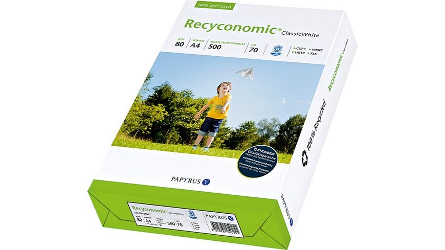 PAPYRUS Kopierpapier Reconomic A4 80g m 500 Blatt