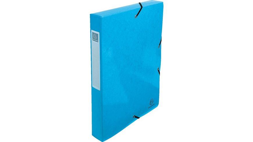 EXACOMPTA Archivbox mit Eckspanner A4 hellblau