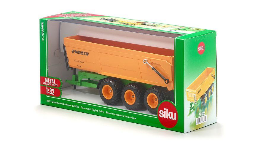 SIKU 2892 Farmer 3 Achs Muldenkipper JOSKIN