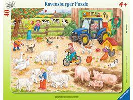 Ravensburger Puzzle Rahmenpuzzle Auf dem grossen Bauernhof 40 Teile