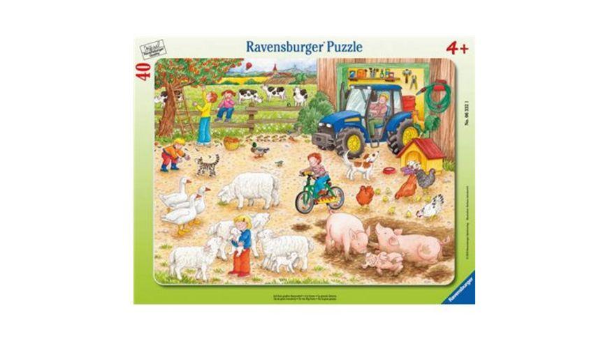 Ravensburger Rahmenpuzzle Auf dem grossen Bauernhof 40 Teile