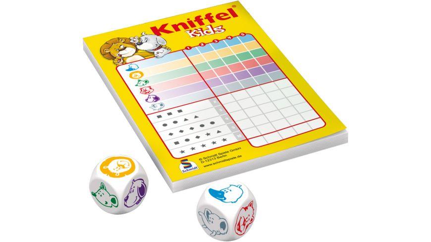 Schmidt Spiele Reisespiele Kniffel Kids in Metalldose