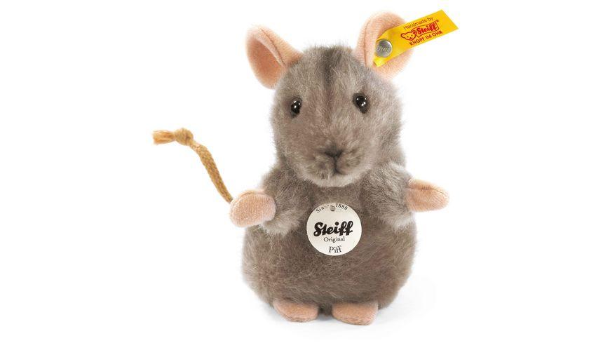 Steiff Kuscheltiere Haus Hoftiere Piff Maus grau 10cm