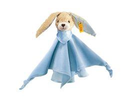 Steiff Babywelt Spielzeug Schmusetuecher Hoppel Hase Schmusetuch blau 28cm