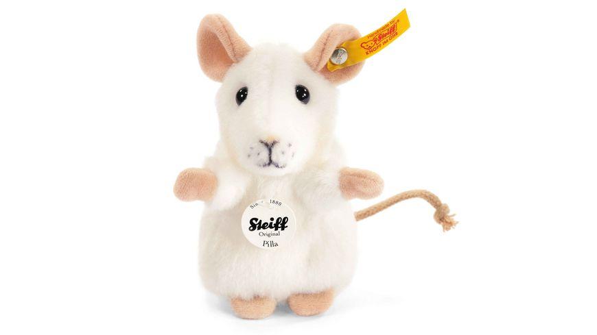 Steiff Kuscheltiere Haus Hoftiere Pilla Maus weiss 10cm