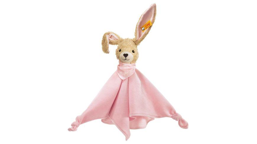 Steiff Babywelt Spielzeug Schmusetuecher Hoppel Hase Schmusetuch rosa 28cm
