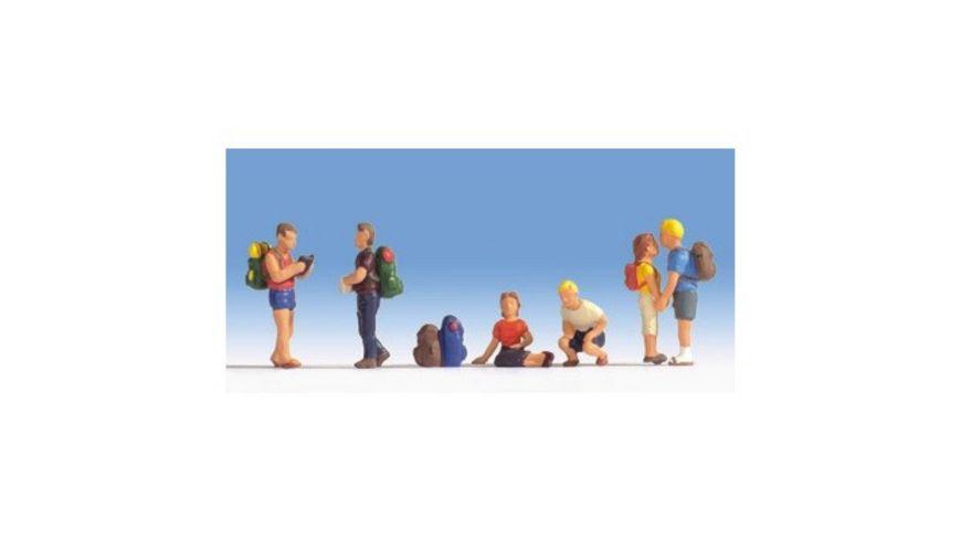 Noch Wanderer 6 Figuren und Zubehoer