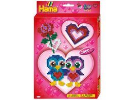 Hama Buegelperlen Geschenkpackung Love 2000 Stueck