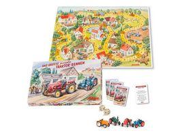 Schuco Piccolo Das grosse Traktoren Rennen Brettspiel mit vier Piccolos
