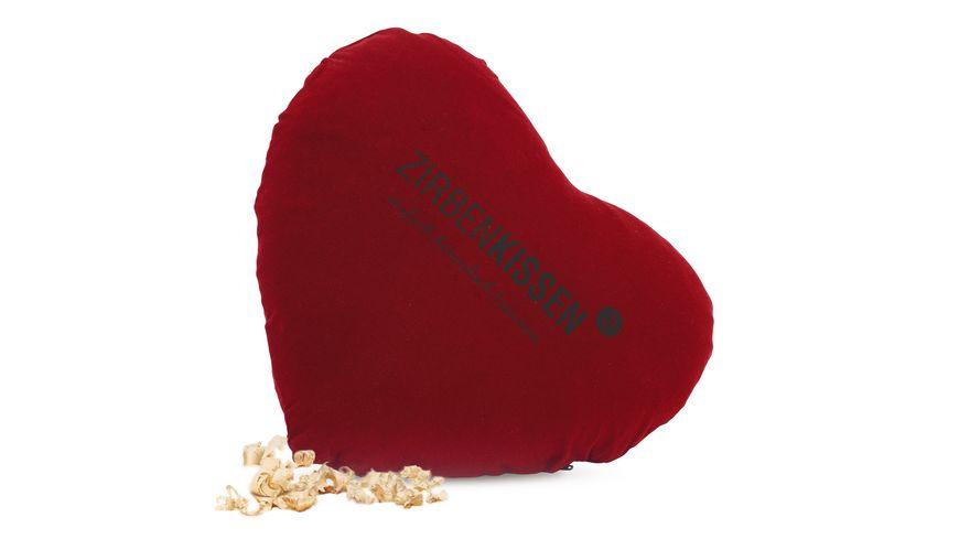 ZirbenFamilie Original ZirbenKissen Herz rot