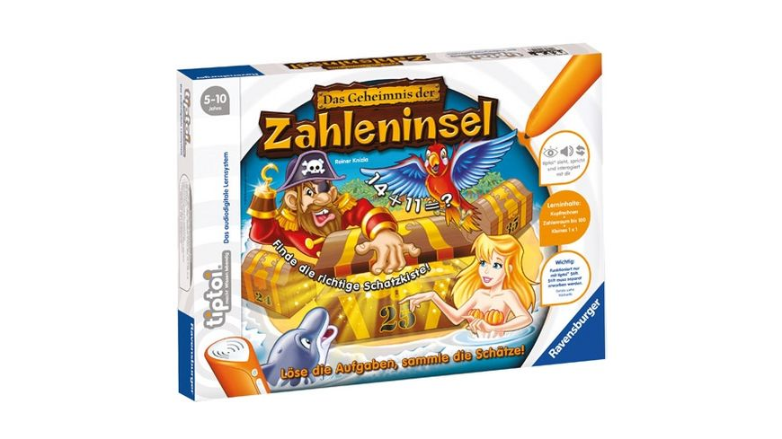 Ravensburger Spiel tiptoi Das Geheimnis der Zahleninsel