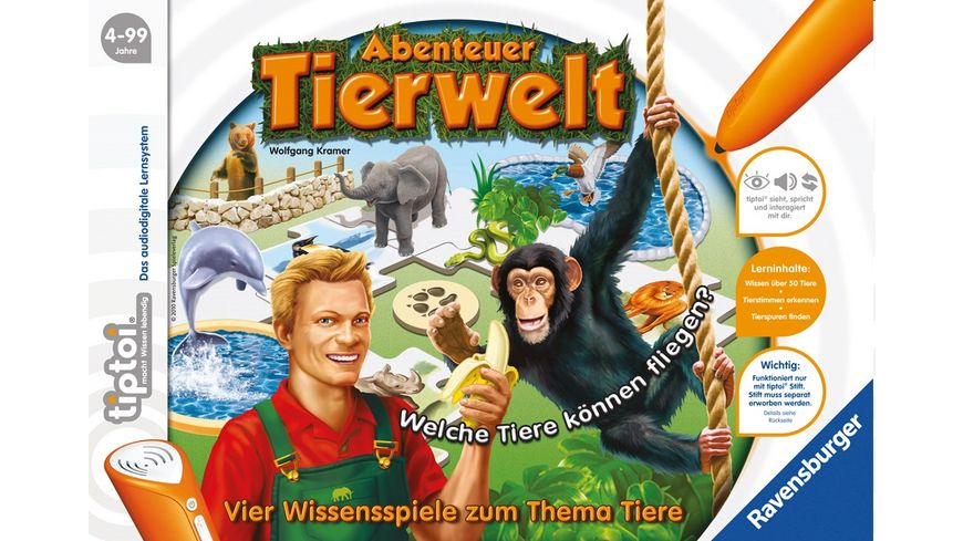 Ravensburger tiptoi Abenteuer Tierwelt