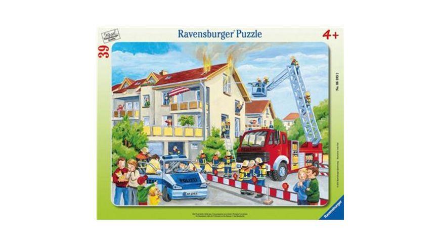 Ravensburger Rahmenpuzzle Die Feuerwehr rueckt aus 39 Teile