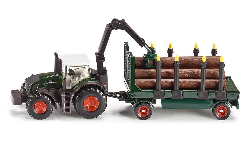 SIKU 1861 Farmer Traktor mit Holzanhaenger