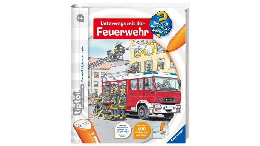 Ravensburger Buch Wieso Weshalb Warum tiptoi Unterwegs mit der Feuerwehr