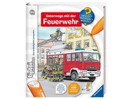 Ravensburger tiptoi Wieso Weshalb Warum Unterwegs mit der Feuerwehr