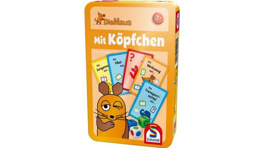 Schmidt Spiele Reisespiele Die Maus Mit Koepfchen In Metalldose