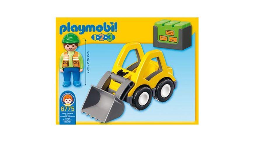 PLAYMOBIL 1 2 3 Radlader