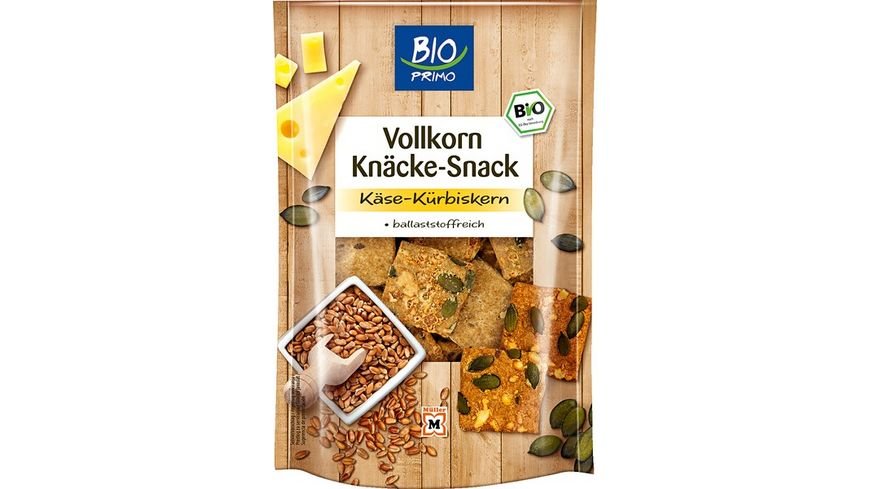 BIO PRIMO Knaecke Snack Kaese Kuerbis