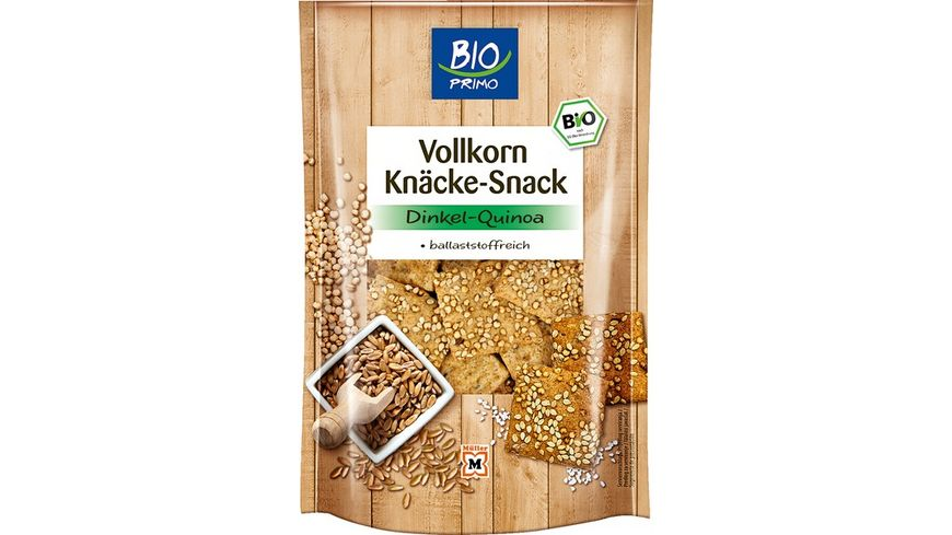 BIO PRIMO Knaecke Snack Dinkel Quinoa