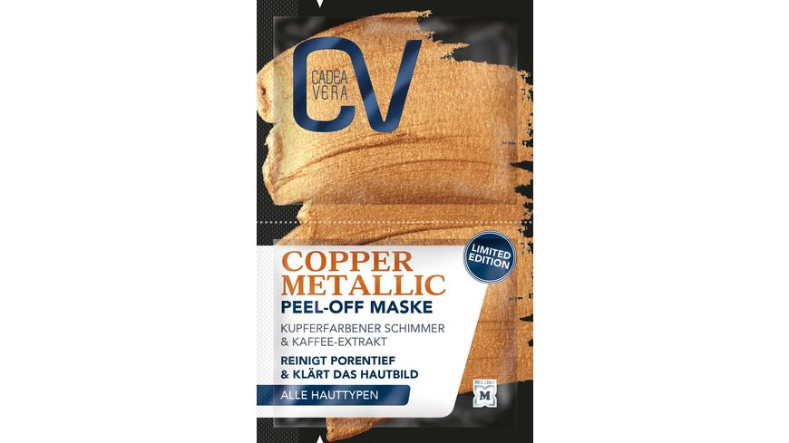 CV Copper Metallic Peel Off Maske