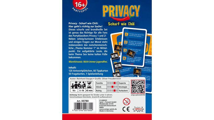Privacy Scharf Wie Chili