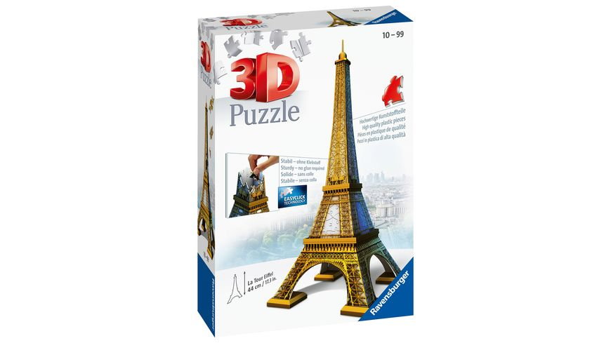 Ravensburger Puzzle - 3D-Puzzle - Eiffelturm, 216 Teile