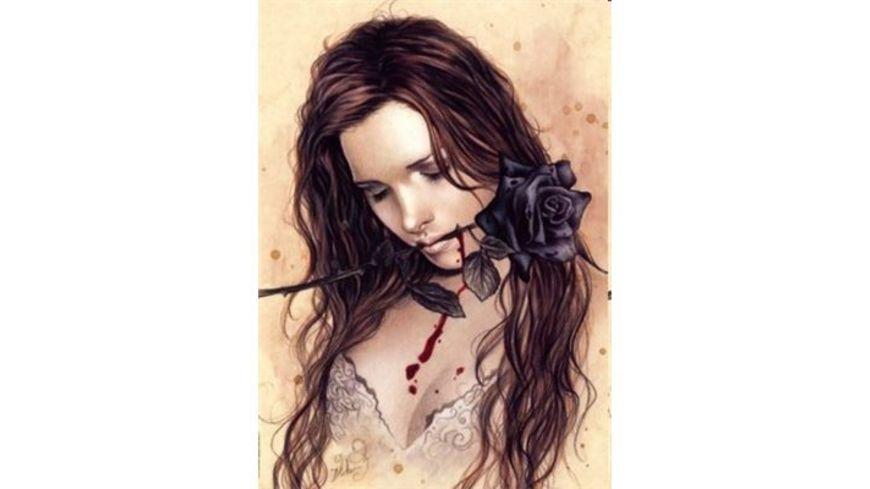 Heye Standardpuzzle 1000 Teile Victoria Frances Dark Rose