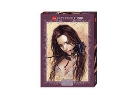 Heye Standardpuzzle 1000 Teile Victoria Frances Dark Rose