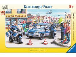 Ravensburger Rahmenpuzzle Einsatz der Polizei 15 Teile