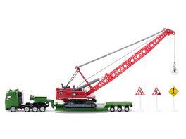 SIKU 1834 Super Super Schwertransporter mit Seilbagger Abrissbirne und Schildern