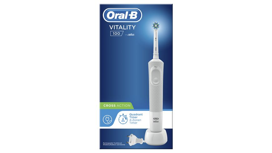 Oral B Vitality 100 CrossAction Elektrische Zahnbuerste White