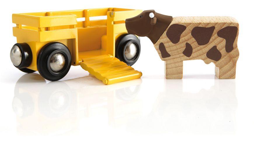 BRIO Bahn Tierwagen mit Kuh