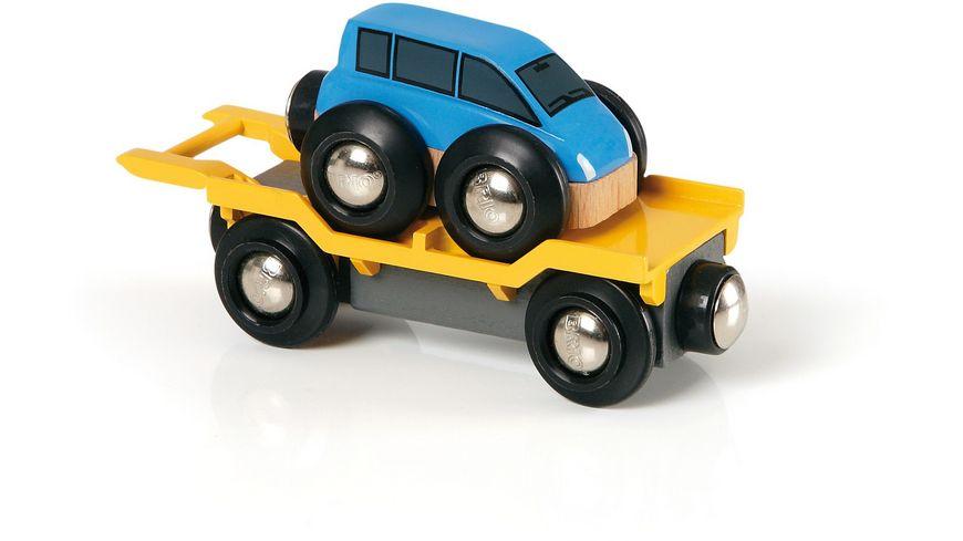 BRIO Bahn Autotransporter mit Rampe