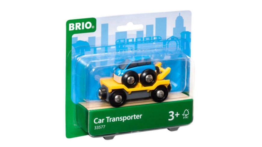 BRIO Bahn - Autotransporter mit Rampe