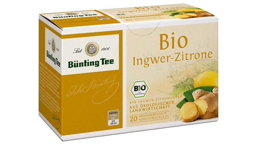 Buenting Tee Bio Ingwer Zitrone