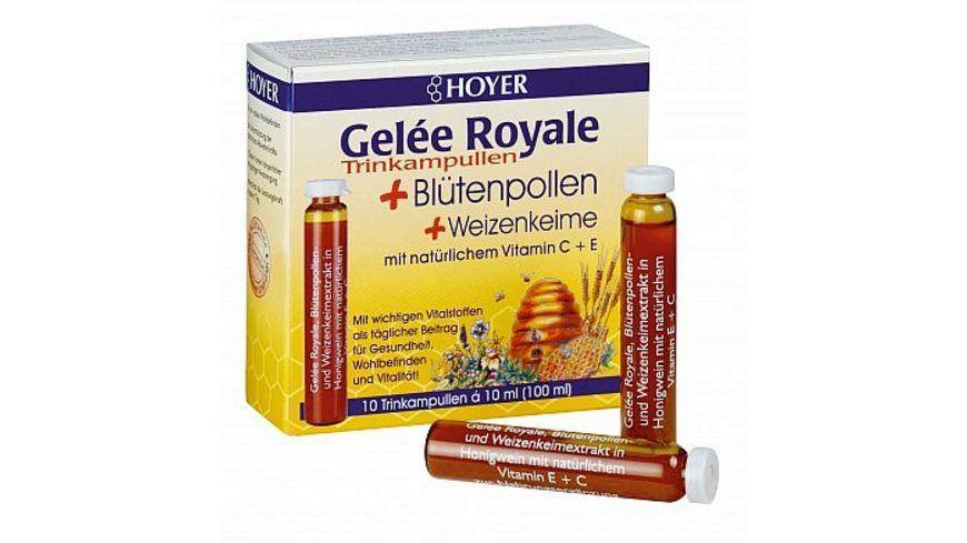 HOYER Gelee Royale Bluetenpollen Trinkampullen alc 17 5 vol