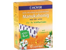HOYER Manukahonig Liquid Sticks MGO 150 Bio